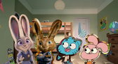 Judy and her cousins E.B., Gumball and Anais