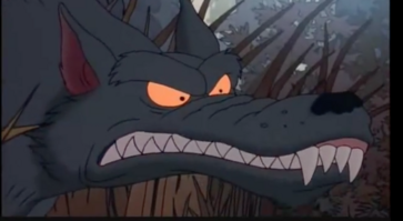 Scar snout growls as Spike & Angelica get away.png