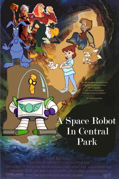 ASpaceRobotInCentralParkPoster