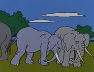 Simpsons 1989 African Elephants