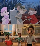 Bernard, Miss Bianca, Jake, Roddy, Rita and Sid (The Rescuers and Flushed Away)