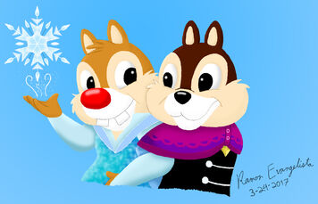 Chip and Dale as Anna and Elsa (final)