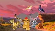 Kion, Bunga, Fuli, Ono, Beshte, Rani and Anga (The Lion Guard)