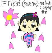 2020 Pokemon Erika's Mulan Cosplay