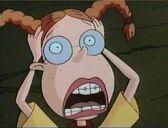 Debbie scares Eliza with her vampire impression