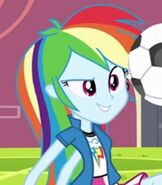 Rainbow Dash (Human) in My Little Pony- Equestria Girls
