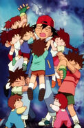 Ash Attacked by Brock's Siblings