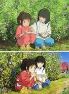 Haku consoling Chihiro