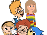 Mr.Peabody,Sherman,Penny,Joy,Sadness,Riley and Lewis