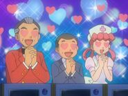 Raoul Contesta, Mr. Sukizo, and Nurse Joy Heart Eyed