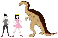 Riley and Elycia meets Camptosaurus