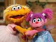 Zoe and Abby Cadabby in Sesame Street
