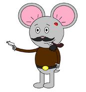 Mr Einstein Hamster (pipe) (with a pistol gun)