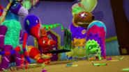 Pinatas seeing pester and his henchmen