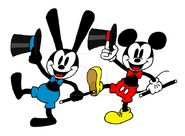 Old School Oswald and Mickey