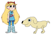 Star meets Domestic Dog