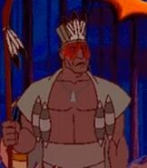 Chief Powhatan in Pocahontas Animated StoryBook