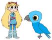 Star meets Spix's Macaw