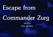 Escape from Commander Zurg Title Card