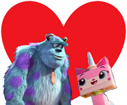 James P. Sullivan and Unikitty love together