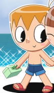 Mike Believe's swimming trunks