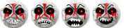 Timothy demon face set by dustyfan-d8i7duu