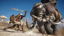 Assassins-Creed-Origins-Elephant-Fight
