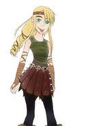 Astrid hofferson without armor pads