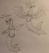 Mer penguin lani and mer macaw jewel by rowserlotstudios1993 dczv92t-fullview