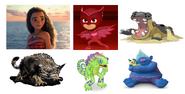 Moana, Biggie, Kazilleon, Owlette, Hippowdon & Bearowl