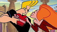 Johnny Bravo has a girlfriend.