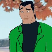 Shang in his green jacket