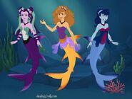 The Dazzlings as mermaids