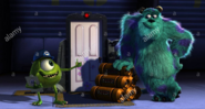 Sulley and Mike at Boo's Door