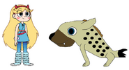 Star Meets the Spotted Hyena