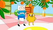 Finn and jake seeing ice king with princess bed