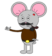 Mr Einstein Hamster (pipe) (with a saber staff)
