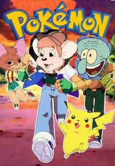 Pokemon (cartoonnewtworkandsony style with osgood squidward and foxglove as ash brock and misty)
