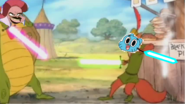 Abis Mal nearly kills Gumball.
