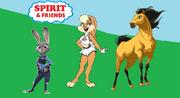Spirit (the stallion) and friends