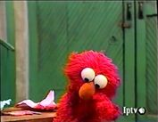 Elmo in tears when being all alone