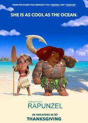Rapunzel (Moana) Poster