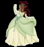Starfire Dressed as Green Frog Princess