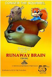 Runaway Brain (Disney and Sega Style) Poster