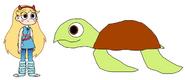 Star meets Loggerhead Sea Turtle