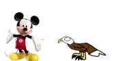 Mickey Mouse meets Bald Eagle