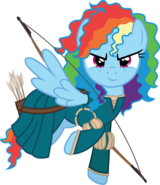 Rainbow Dash as Merida