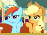 Rainbow Dash and Applejack