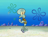 Squidward gets closer