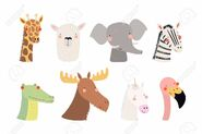 102161080-set-of-cute-funny-animals-unicorn-zebra-llama-flamingo-giraffe-moose-crocodile-elephant-isolated-obj